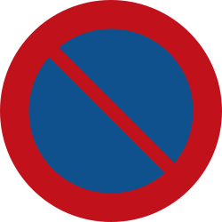 Traffic sign of Netherlands: Parking prohibited