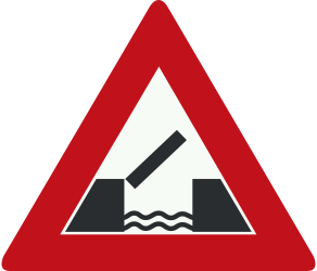 Traffic sign of Netherlands: Warning for a movable bridge