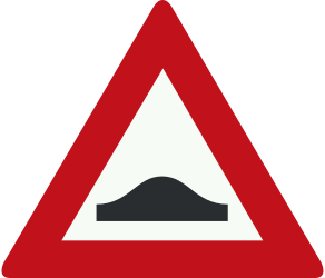 Traffic sign of Netherlands: Warning for a speed bump