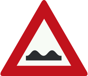 Traffic sign of Netherlands: Warning for a bad road surface