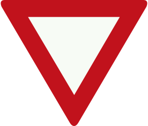 Traffic sign of Netherlands: Give way to all drivers