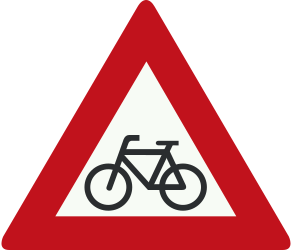 Traffic sign of Netherlands: Warning for cyclists