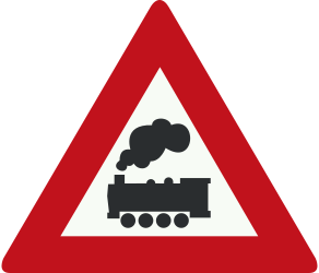 Traffic sign of Netherlands: Warning for a railroad crossing without barriers