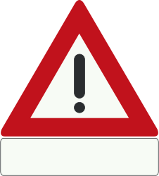 Traffic sign of Netherlands: Warning for a danger with no specific traffic sign