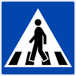 Traffic sign of Norway: Crossing for pedestrians