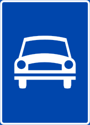 Traffic sign of Norway: Begin of an expressway