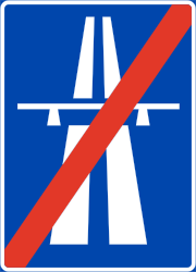 Traffic sign of Norway: End of the motorway