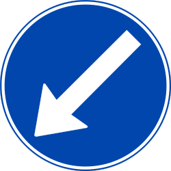 Traffic sign of Norway: Passing left mandatory