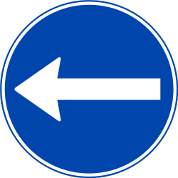 Traffic sign of Norway: Mandatory left