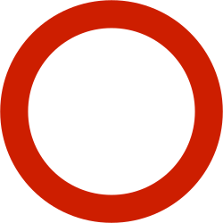 Traffic sign of Norway: Entry prohibited