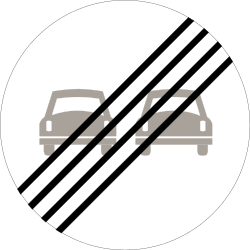 Traffic sign of Norway: End of the overtaking prohibition