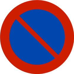 Traffic sign of Norway: Parking prohibited