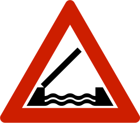 Traffic sign of Norway: Warning for a movable bridge