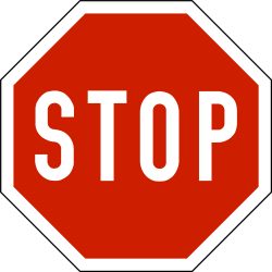 Traffic sign of Norway: Stop and give way to all drivers
