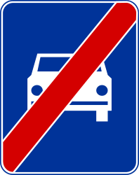 Traffic sign of Poland: End of the expressway