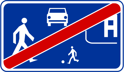 Traffic sign of Poland: End of the residential area