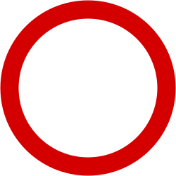 Traffic sign of Poland: Entry prohibited