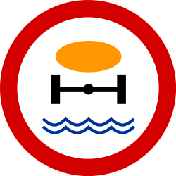 Traffic sign of Poland: Vehicles with polluted fluids prohibited