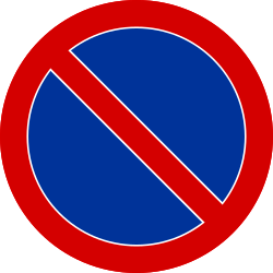 Traffic sign of Poland: Parking prohibited