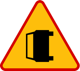 Traffic sign of Poland: Warning for accidents