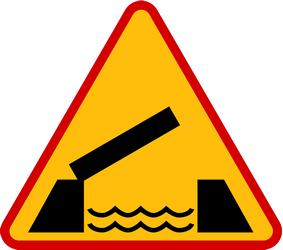 Traffic sign of Poland: Warning for a movable bridge