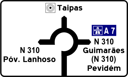 Information signs   Traffic signs: Portugal
