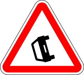 Traffic sign of Portugal: Warning for accidents