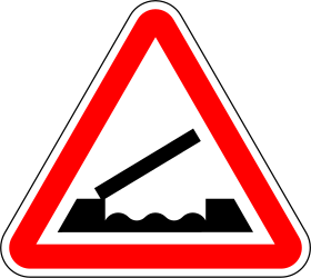Traffic sign of Portugal: Warning for a movable bridge