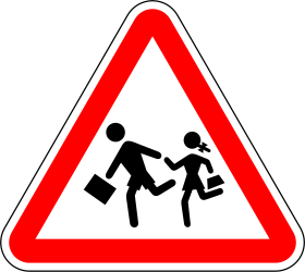Traffic sign of Portugal: Warning for children