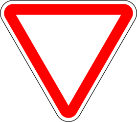 Traffic sign of Portugal: Give way to all drivers