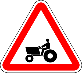 Traffic sign of Portugal: Warning for tractors