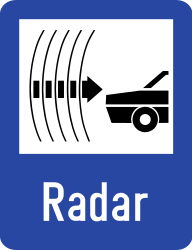 Traffic sign of Romania: Section control