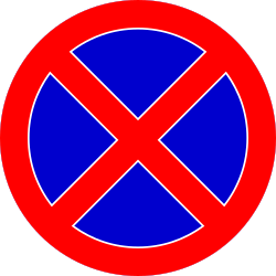 Traffic sign of Romania: Parking and stopping prohibited