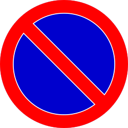 Traffic sign of Romania: Parking prohibited
