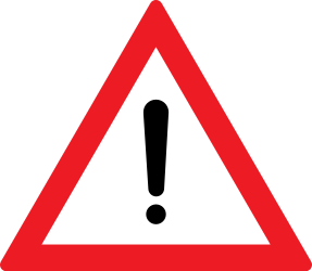 Traffic sign of Romania: Warning for a danger with no specific traffic sign