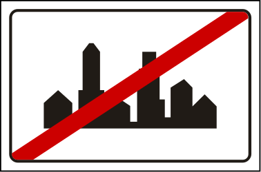 Traffic sign of Serbia: End of the built-up area