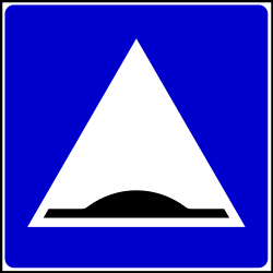 Traffic sign of Serbia: Speed bump