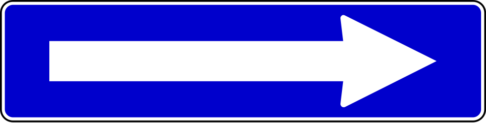Traffic sign of Serbia: Road with one-way traffic