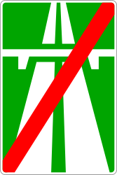 Traffic sign of Russia: End of the motorway