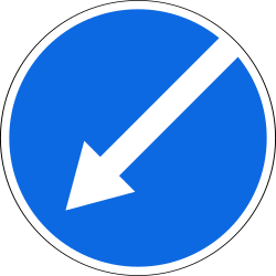 Traffic sign of Russia: Passing left mandatory