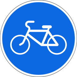 Traffic sign of Russia: Mandatory path for cyclists