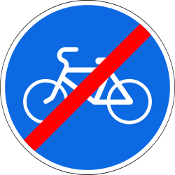 Traffic sign of Russia: End of the path for cyclists