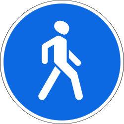 Traffic sign of Russia: Mandatory path for pedestrians