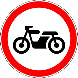 Traffic sign of Russia: Mopeds prohibited