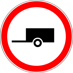 Traffic sign of Russia: Trailers prohibited