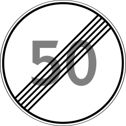Traffic sign of Russia: End of the speed limit