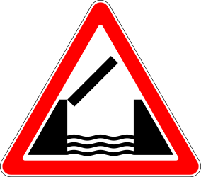 Traffic sign of Russia: Warning for a movable bridge