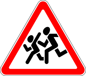 Traffic sign of Russia: Warning for children