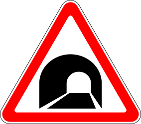 Traffic sign of Russia: Warning for a tunnel