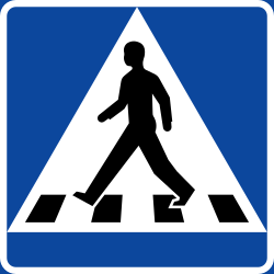 Traffic sign of Sweden: Crossing for pedestrians